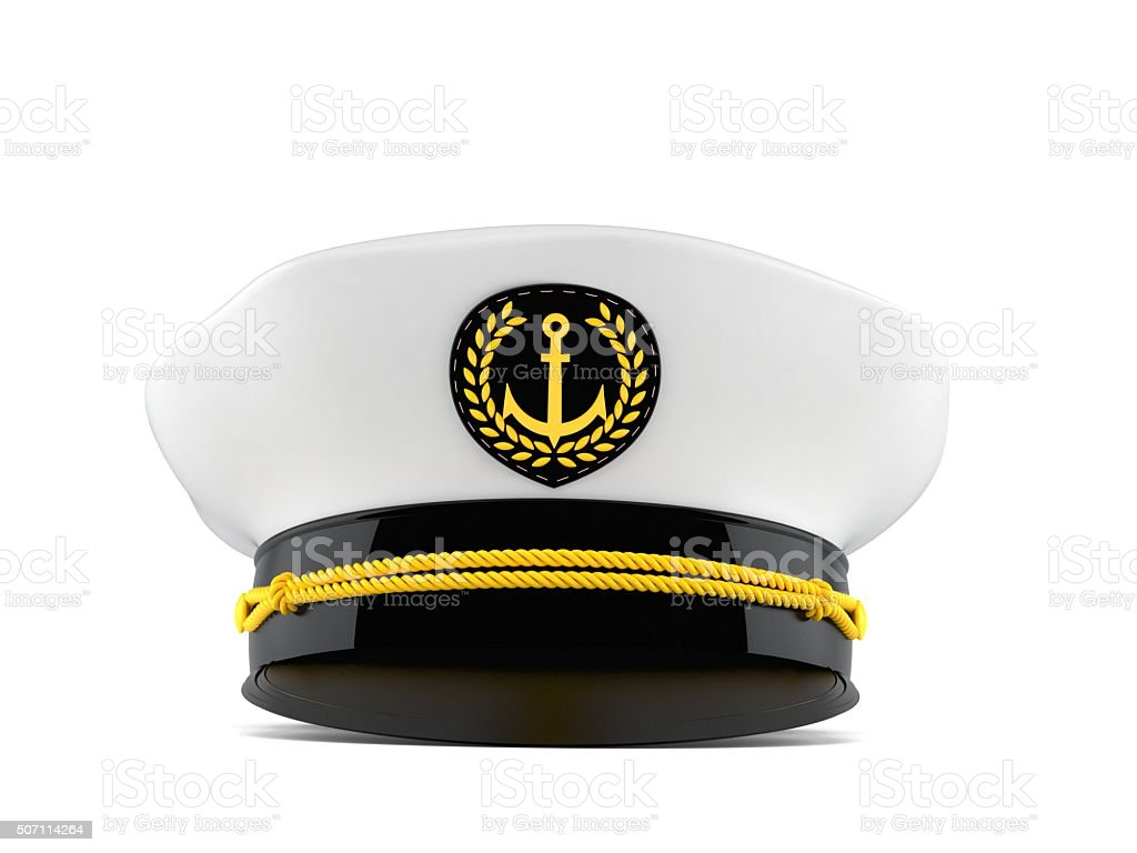 Captain's hat stock photo