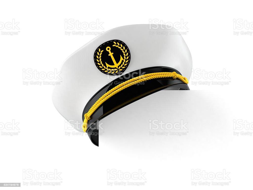 Captain's hat stock photo