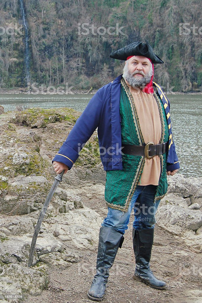 Captian of the Pirates stock photo