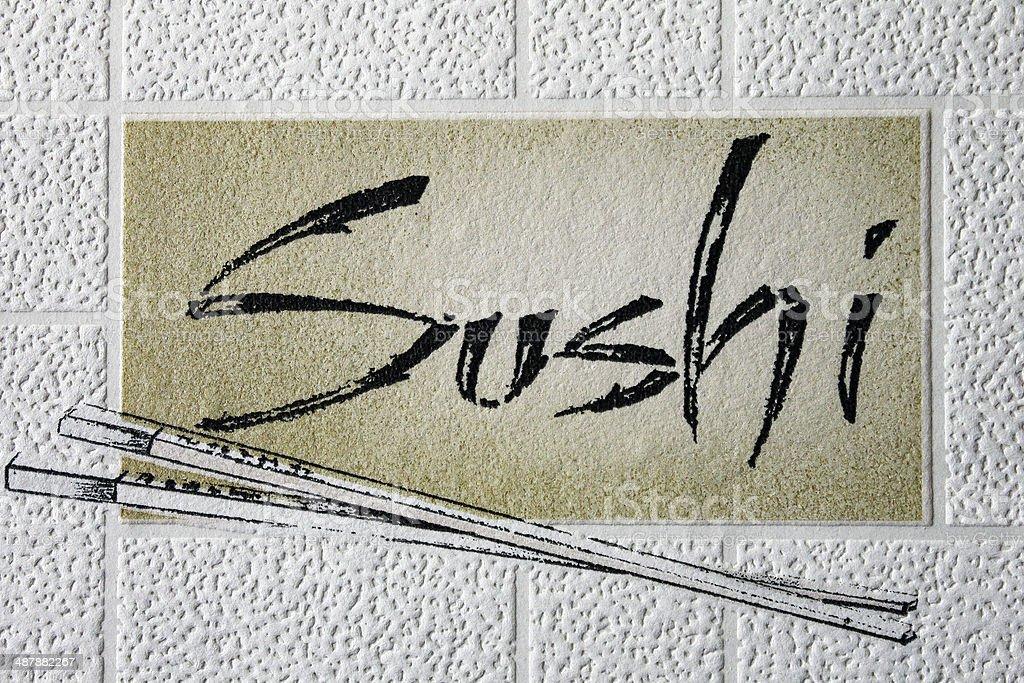 Caption sushi royalty-free stock photo