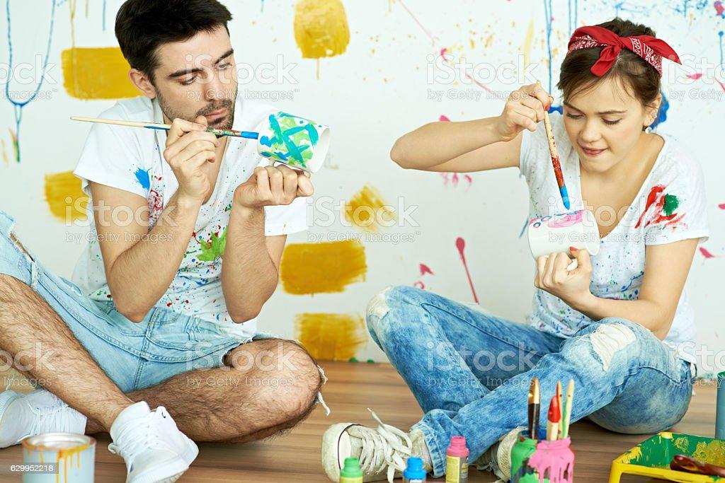 Captivating painting stock photo