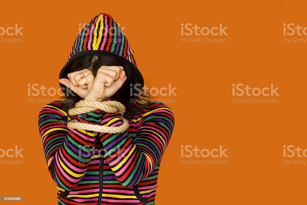 Captive Color Woman royalty-free stock photo