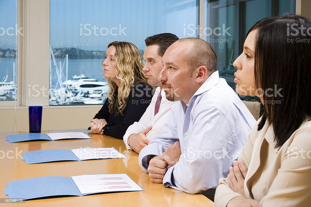 Captive Corporate Audience royalty-free stock photo