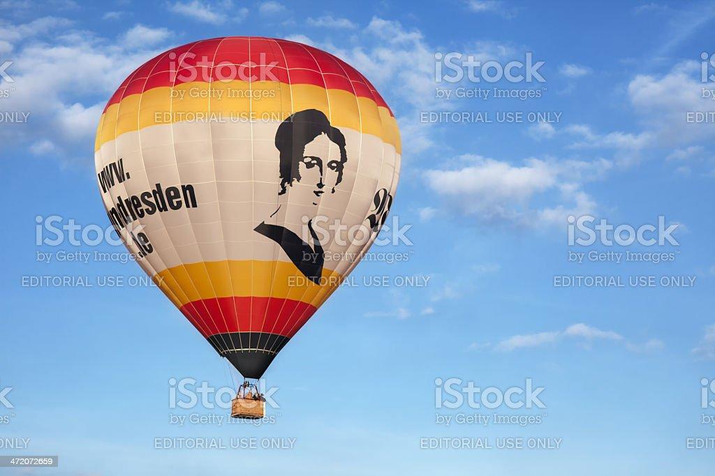Captiveballoon in Sky stock photo