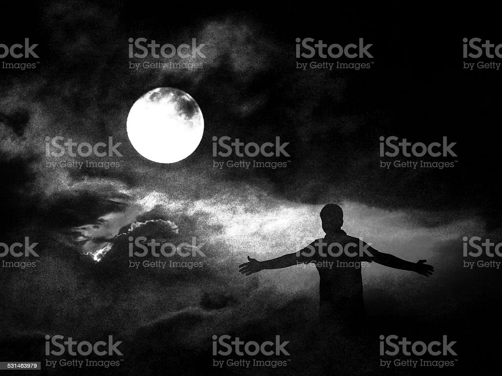 Capture the moonlight stock photo