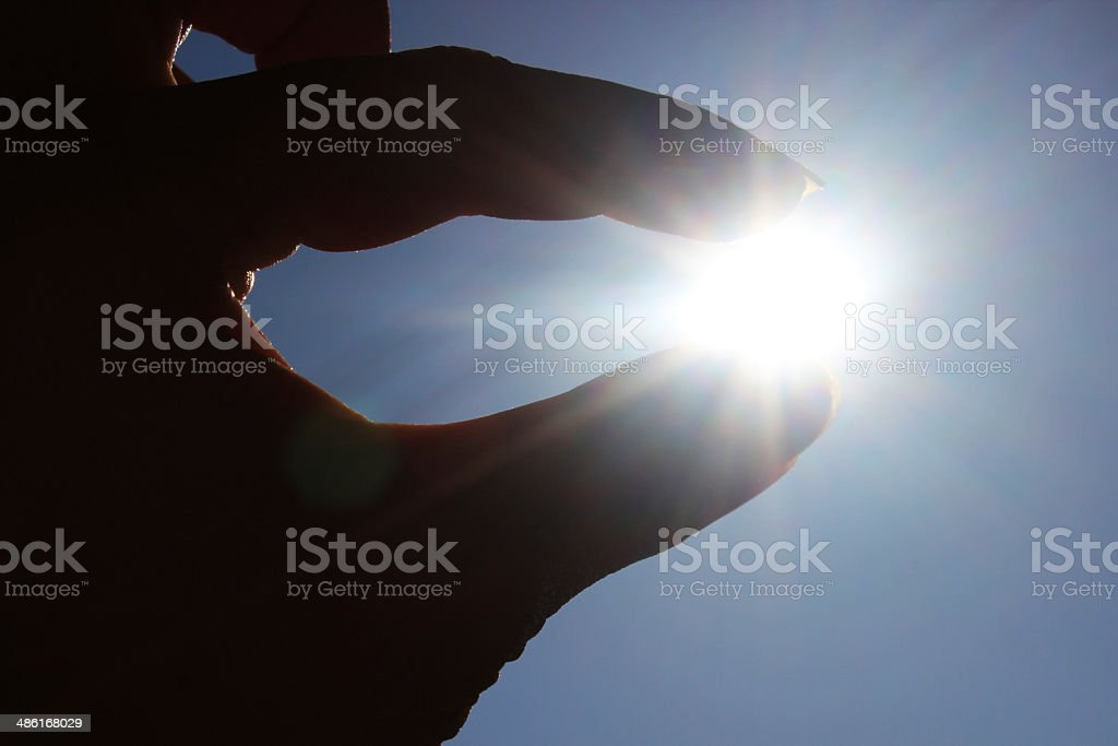 Captured Sun royalty-free stock photo