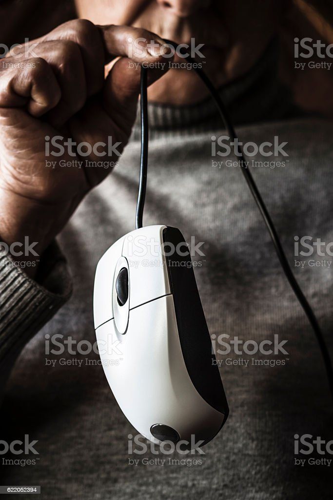Captured the mouse... stock photo