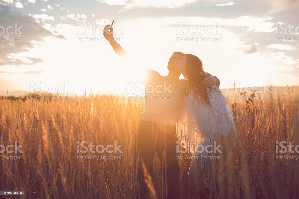 Capturing a loving moment stock photo