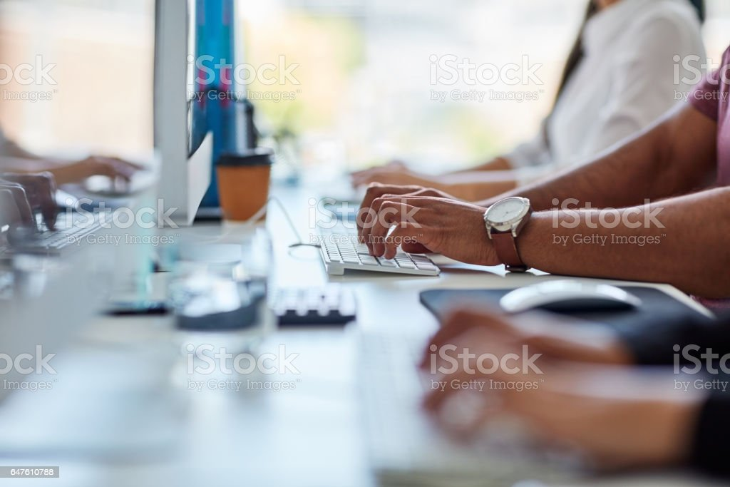 capturing all the information needed to succeed stock photo