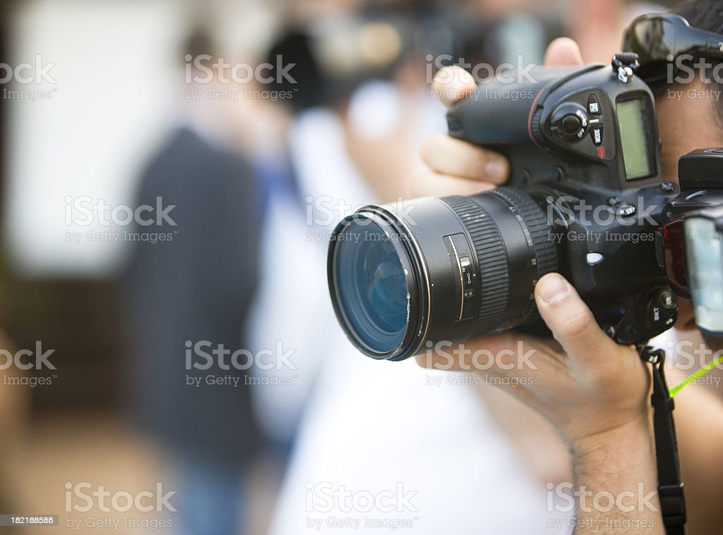 Capturing an image stock photo