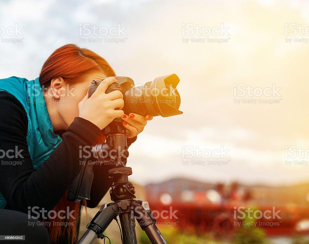 capturing beautiful nature stock photo
