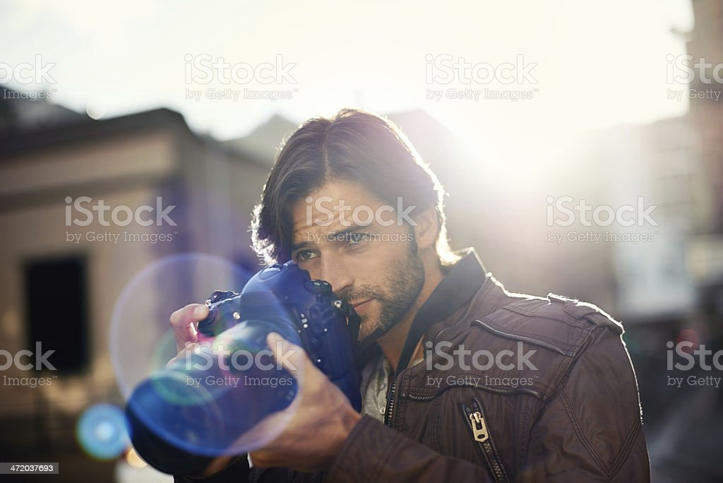 Capturing everyday events stock photo