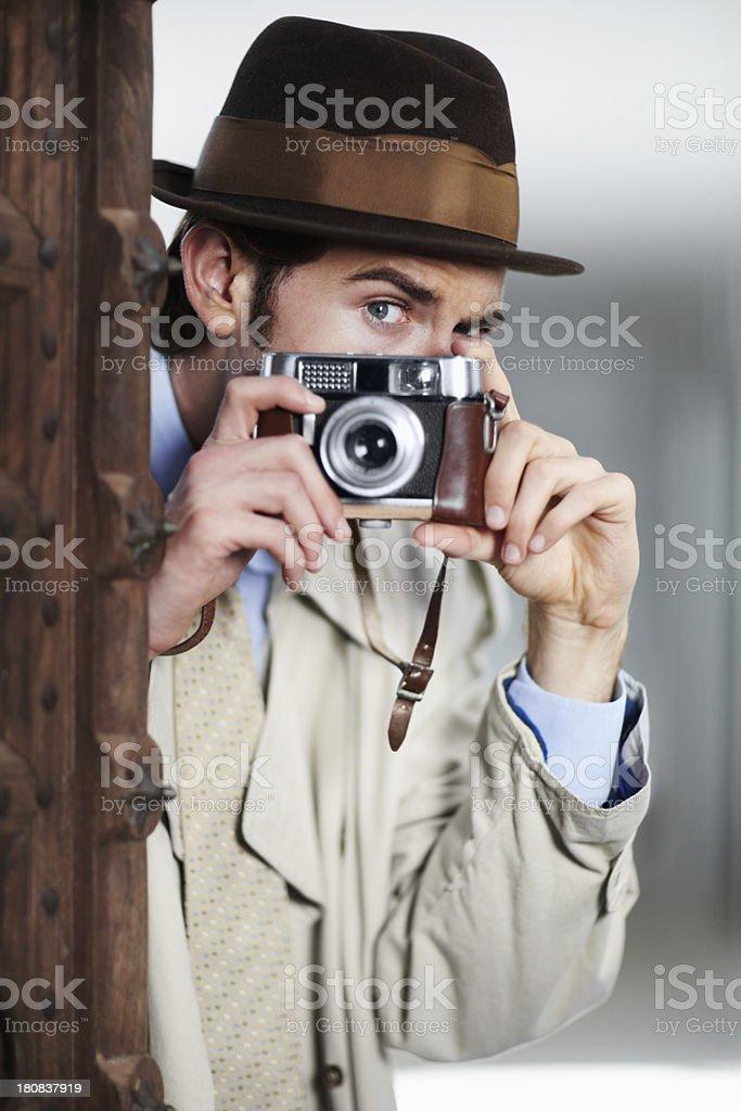 Capturing illicit activities stock photo