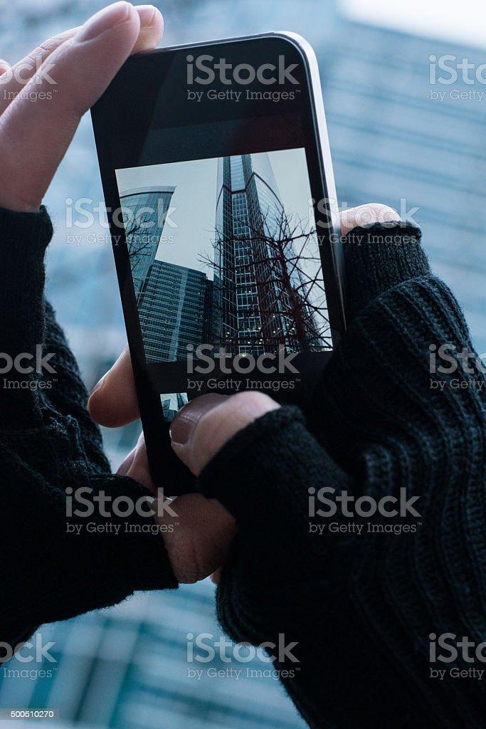 Capturing moment stock photo