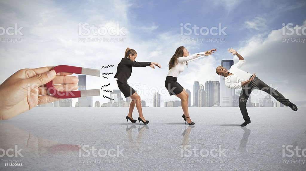 Capturing people with marketing stock photo