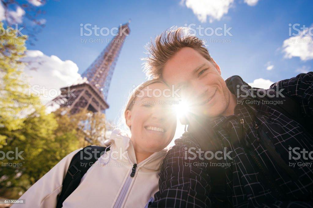 Capturing romantic moment stock photo