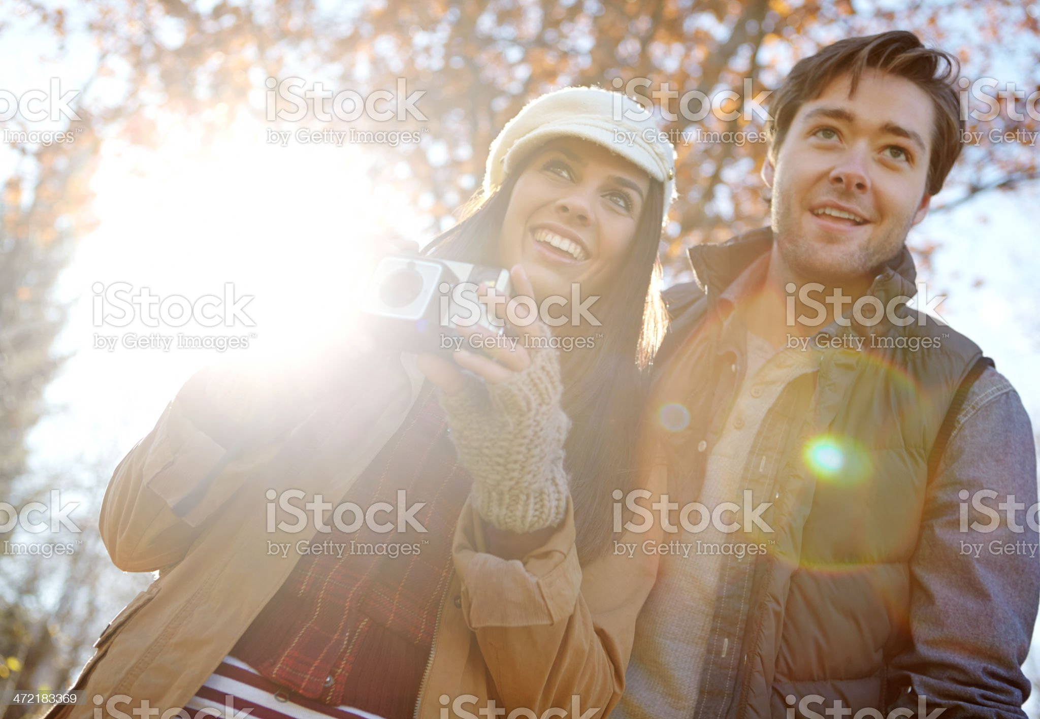 Capturing the beauty of an autumn day... royalty-free stock photo