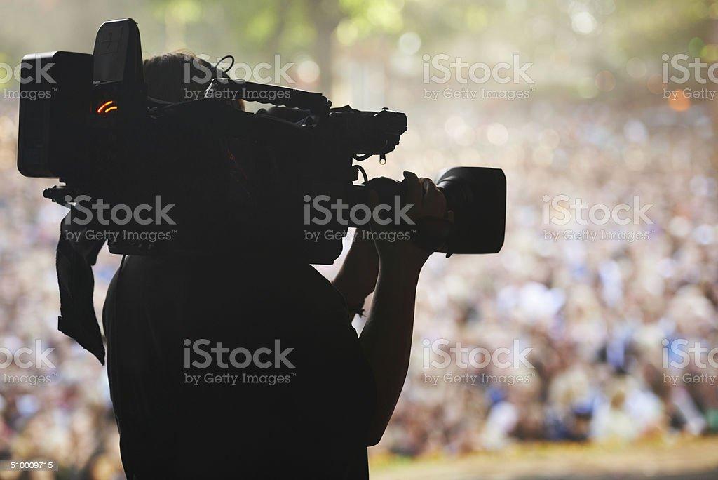 Capturing the excitement stock photo