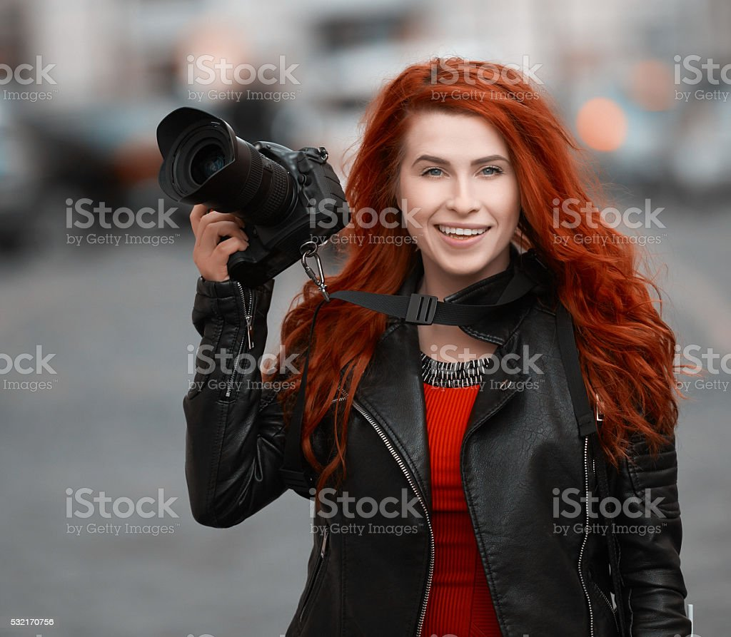 capturing the great city stock photo