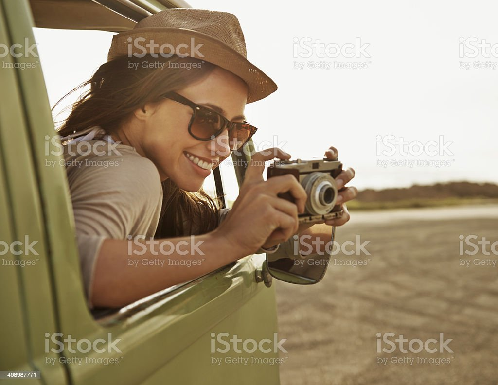 Capturing the journey royalty-free stock photo