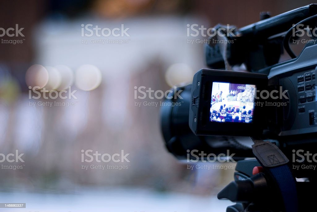 Capturing the moment royalty-free stock photo