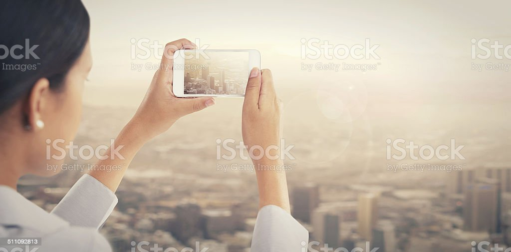 Capturing the world stock photo