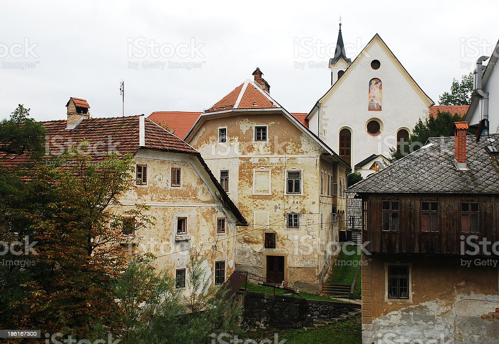 Capuchin Church and Foreground Buildings stock photo