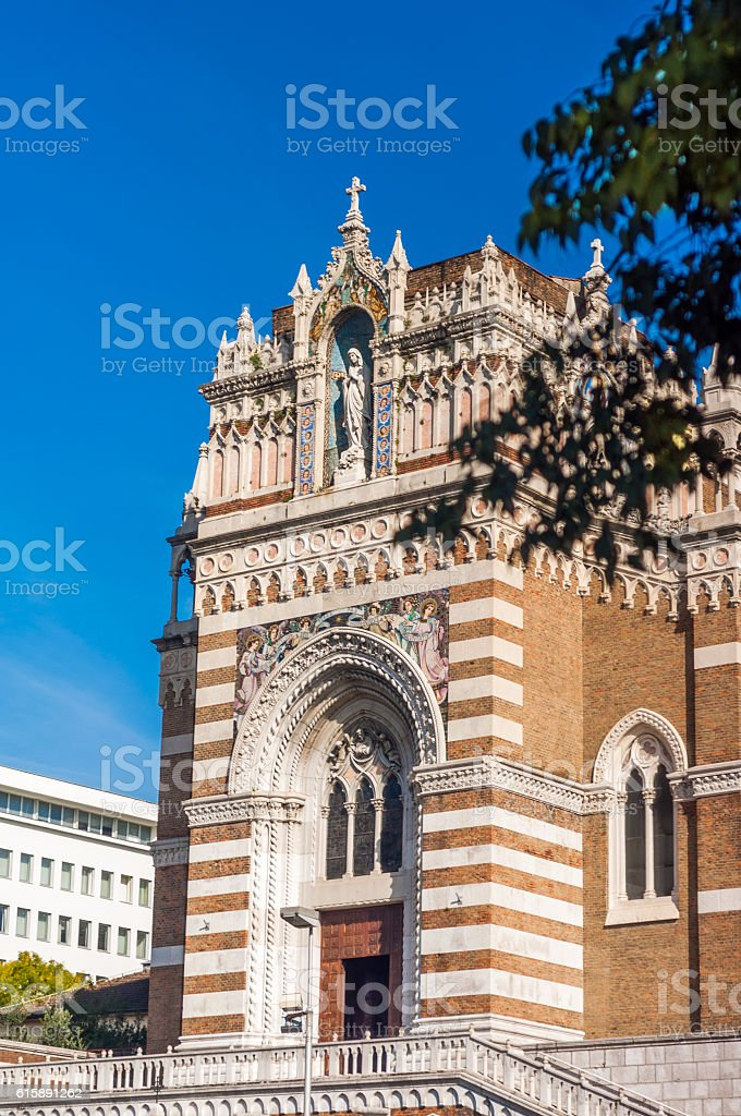 Capuchin Church of Our Lady of Lourdes stock photo