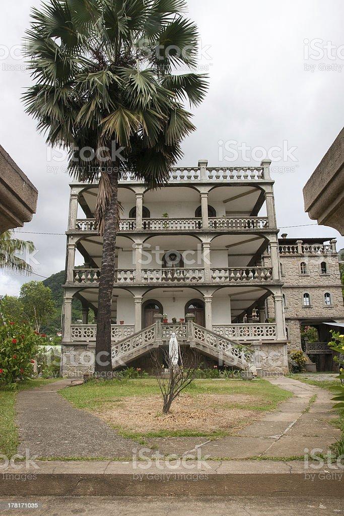 Capuchin House Victoria Seychelles stock photo