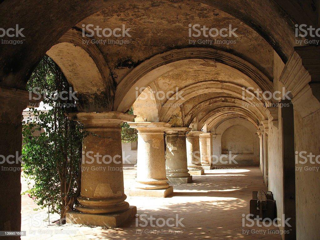Capuchinas convent, Antigua Guatemala royalty-free stock photo