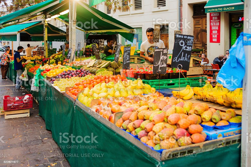 Capucins food market stock photo