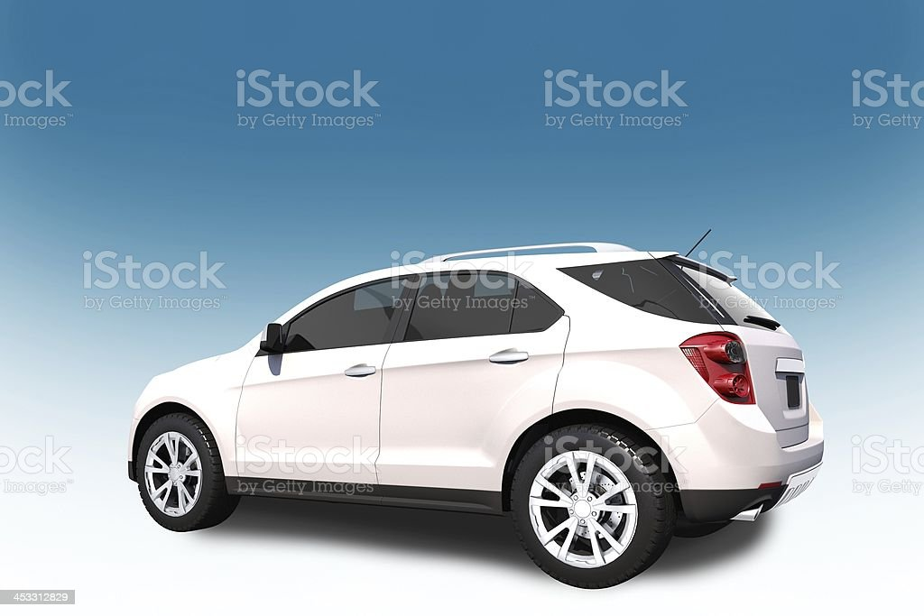 SUV Car 3D Illustration stock photo