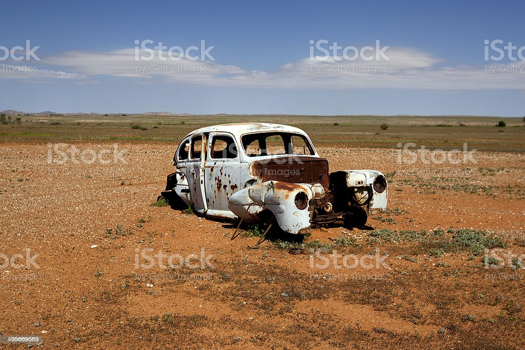 Car Abandoned in the Outback of New South Wales, Australia royalty-free stock photo
