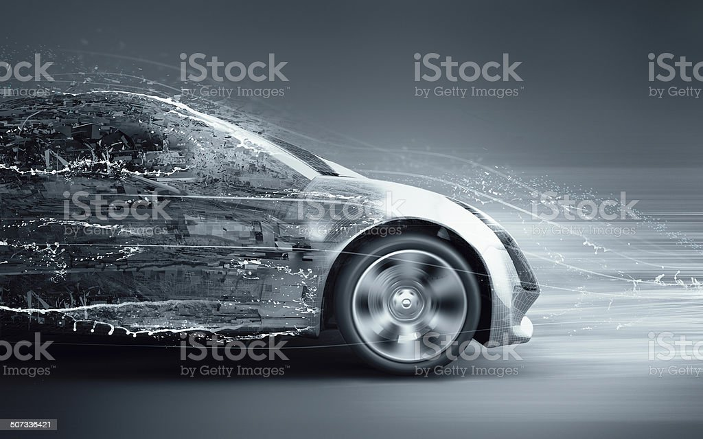 car abstract concept stock photo