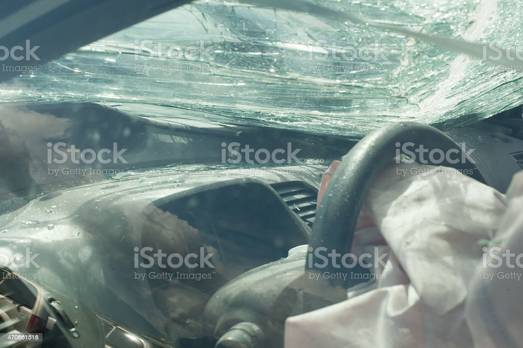 car accident aftermath lawyer auto injury stock photo