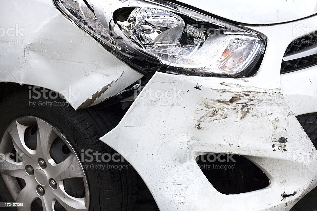 Car accident - closeup of damage royalty-free stock photo