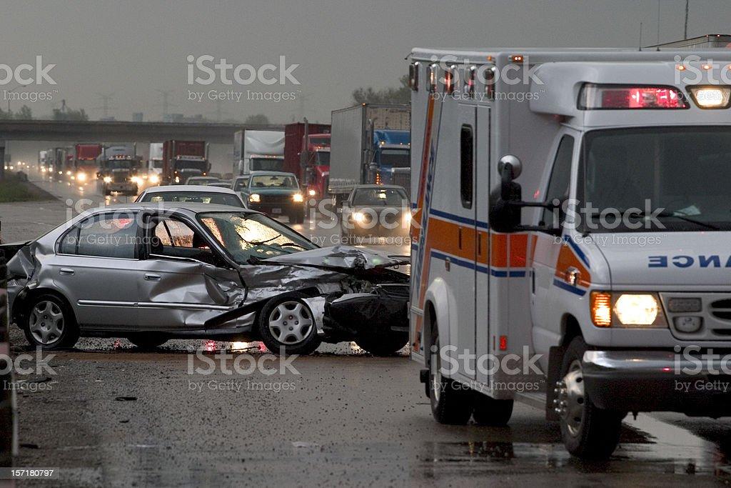Car  Accident  Crash stock photo
