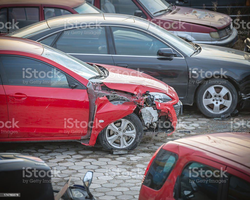 Car accident Crash royalty-free stock photo