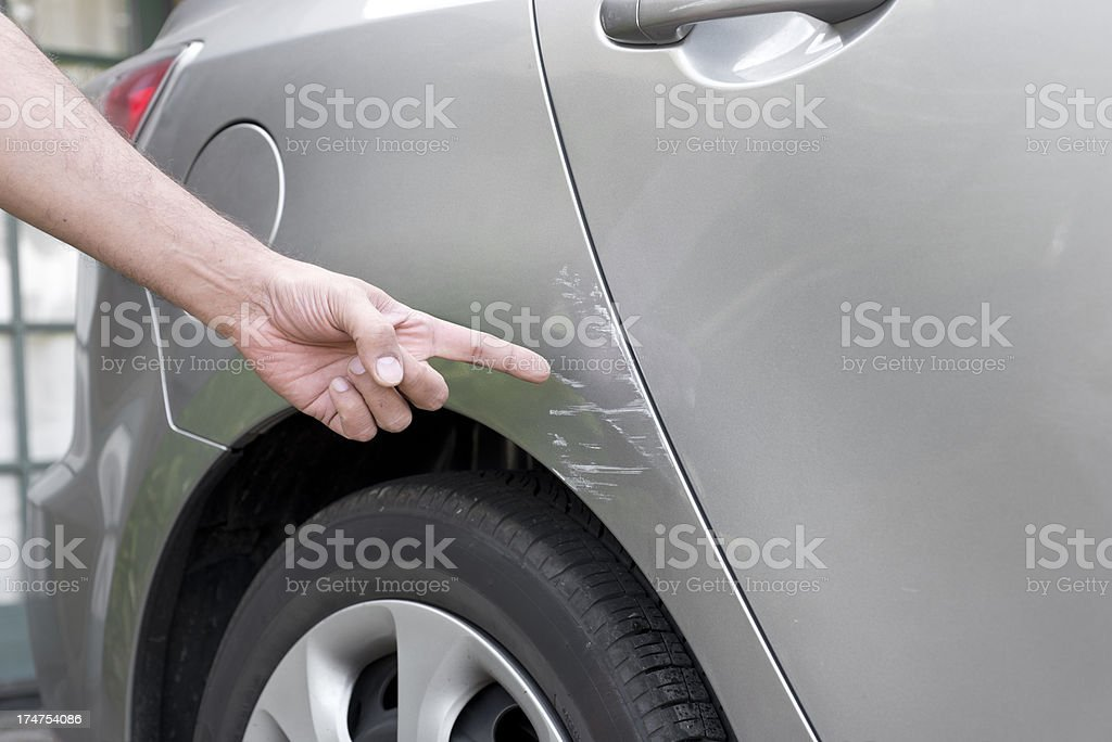 Car Accident Damage royalty-free stock photo