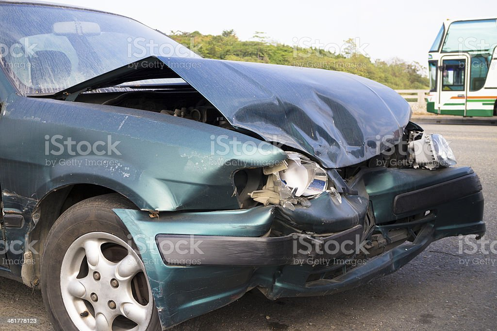 Car accident for insurance concept stock photo