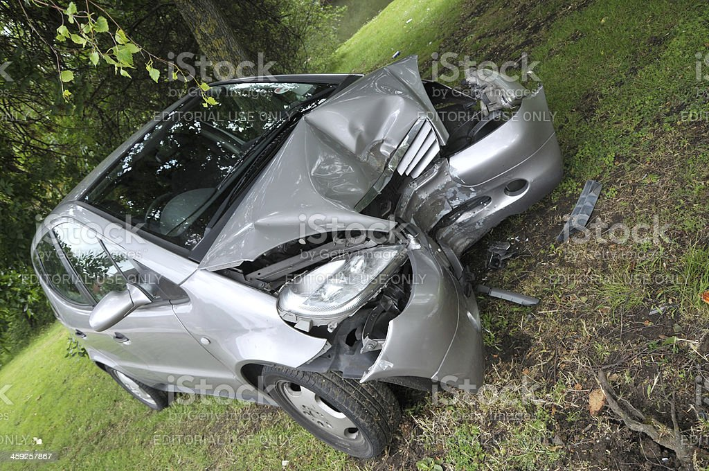 Car Accident - Front Impact royalty-free stock photo