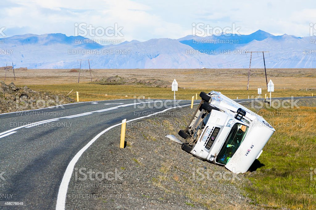 car accident, iceland royalty-free stock photo