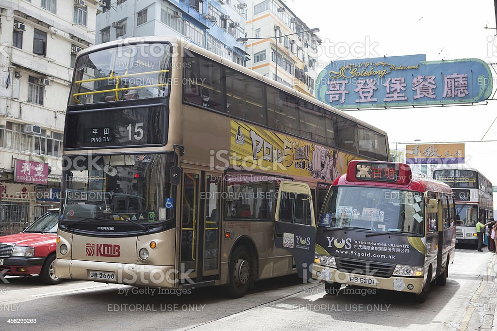 Car Accident in Hong Kong royalty-free stock photo