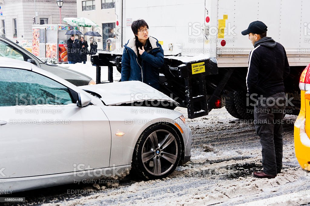Car accident in New York royalty-free stock photo