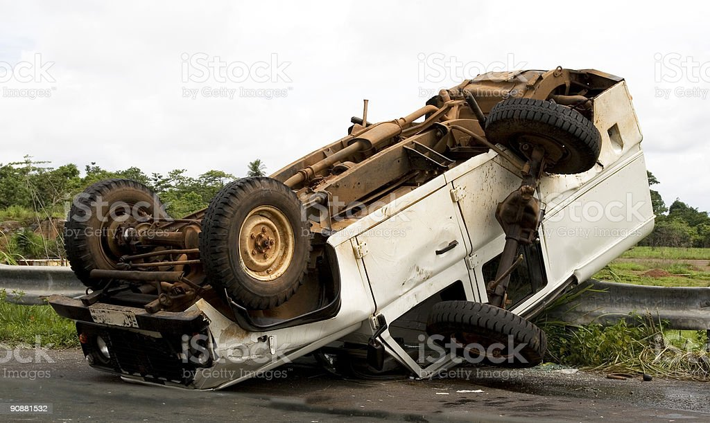 Car accident in Sierra Leone stock photo