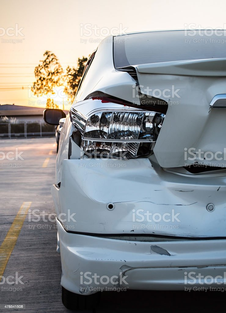 Car accident, insurance concept stock photo