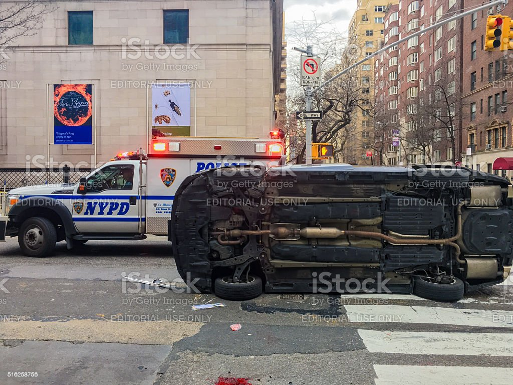 Car Accident, NYC, USA stock photo