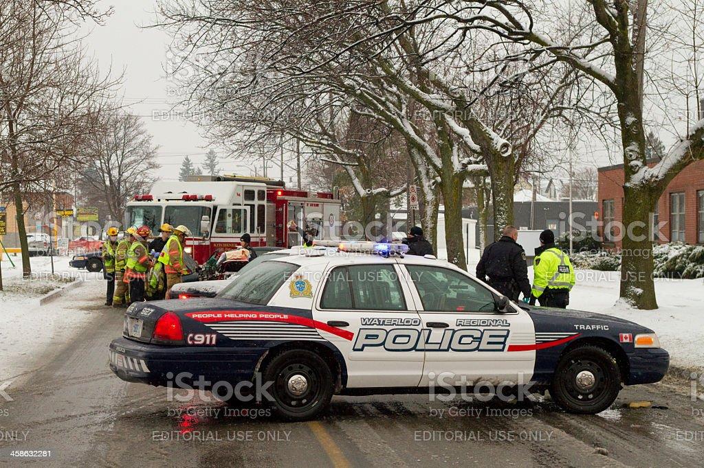 Car Accident Scene stock photo
