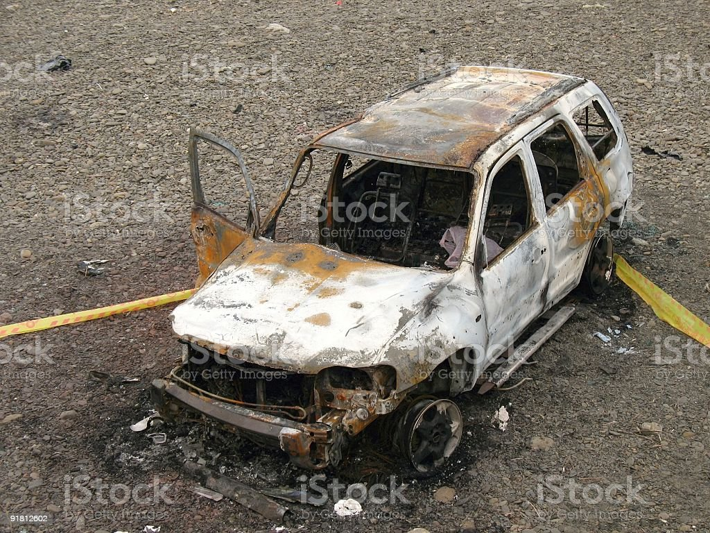Car Accident Scene royalty-free stock photo