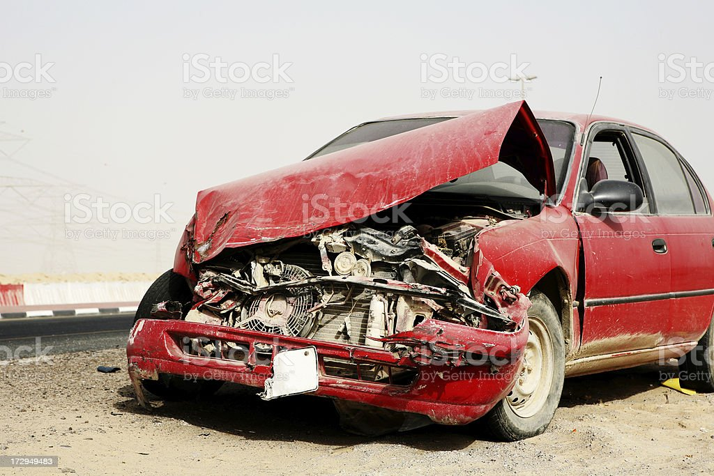 Car Accident Series stock photo